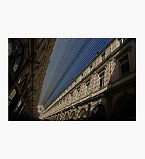 Playing With The Shadows - Brussels, Belgium Royal Galleria Photographic Print