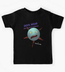 Devil Wear distressed cartoon face Kids Clothes