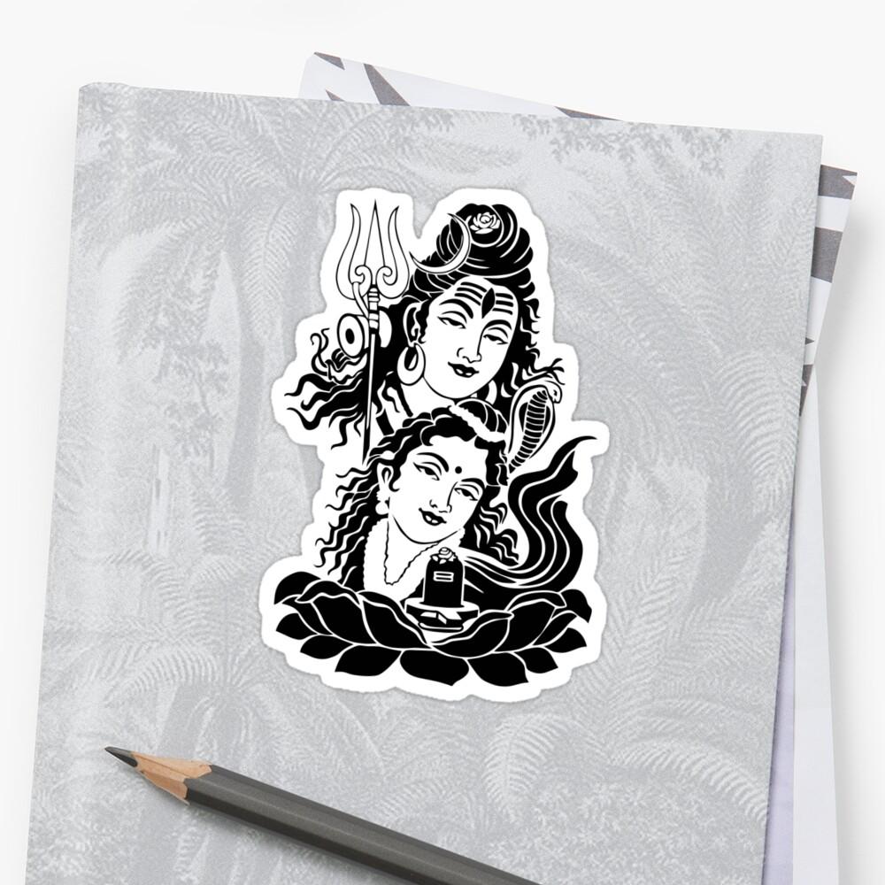 Shiva parvati ji sticker