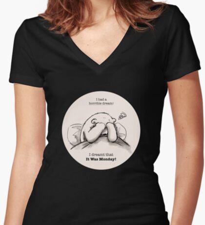 Horrible Dream Fitted V-Neck T-Shirt