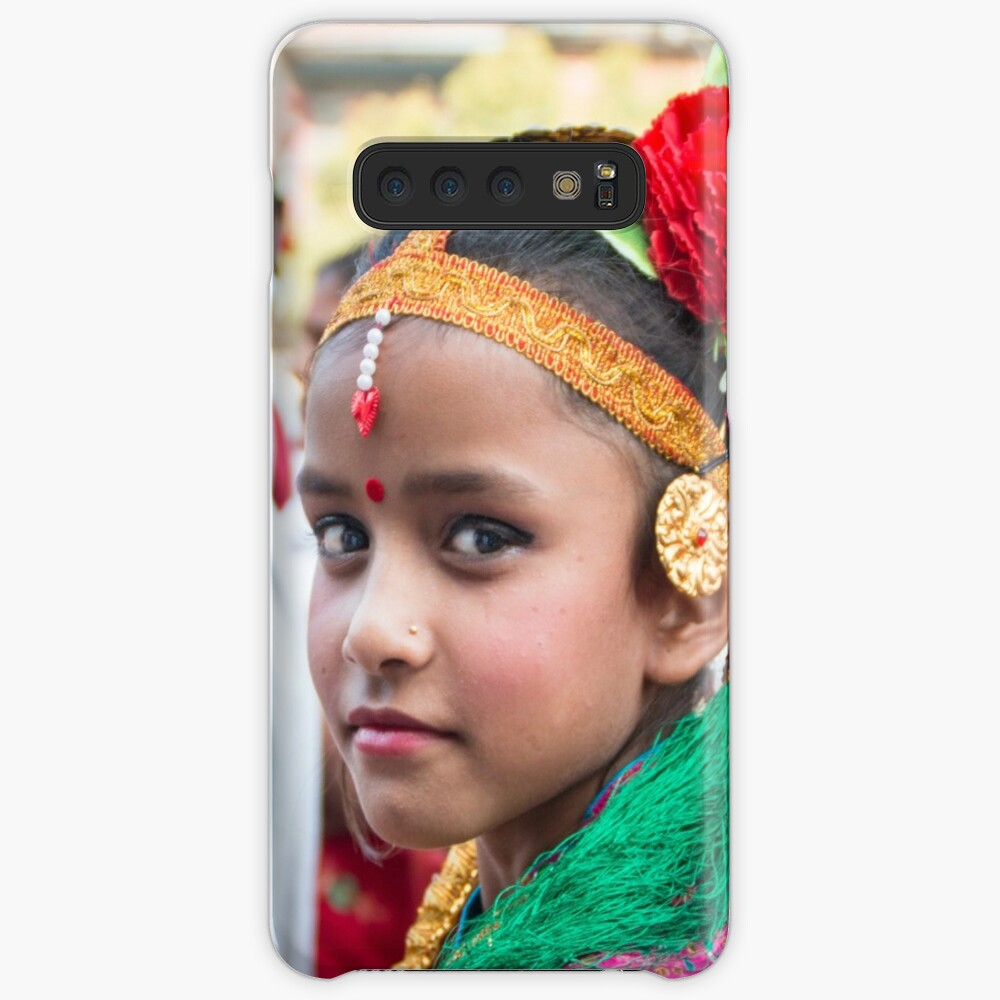 Young Nepali Girl during Tihar Cases & Skins for Samsung Galaxy