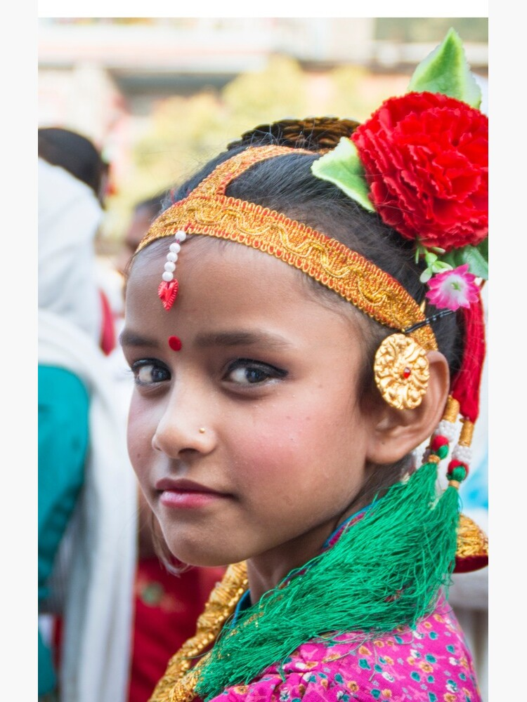 Young Nepali Girl during Tihar by missatgerebut