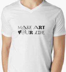 Art Artist Painting Motivational Peace Inspirational Men's V-Neck T-Shirt