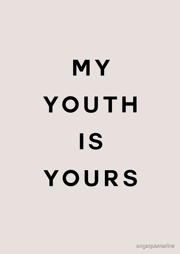 Troye Sivan Youth lyrics aesthetic
