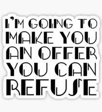The Godfather Joke Humour Movie Quote Sticker