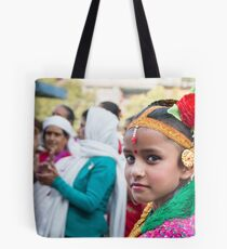 Young Nepali Girl during Tihar Tote Bag