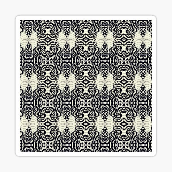Trippy Patterns Intensive Columns Sticker