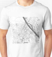 Vienna City Map Gray T-Shirt