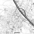 Wien Stadtplan Grau von HubertRoguski