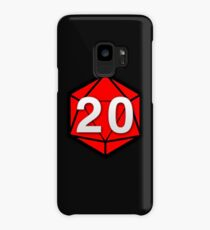 Natural 20 (Red Dice) - Critical Role Case/Skin for Samsung Galaxy