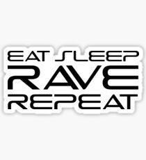 Eat Sleep Rave Repeat EDM electronic Music Sticker