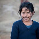 Happy Young Girl in Nepal Far West by Clara Go (missatgerebut)