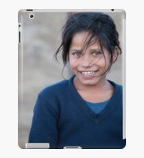Happy Young Girl in Nepal Far West iPad Case/Skin
