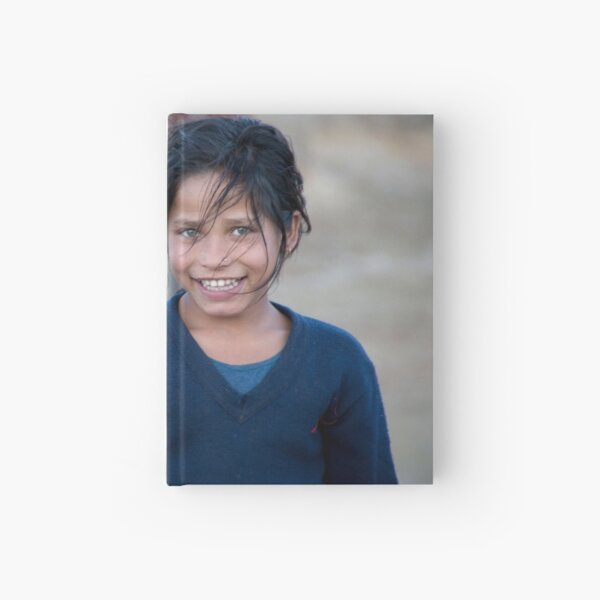 Happy Young Girl in Nepal Far West Hardcover Journal