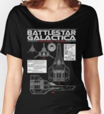 BATTLESTAR GALACTICA COLONIAL VIPER Women's Relaxed Fit T-Shirt