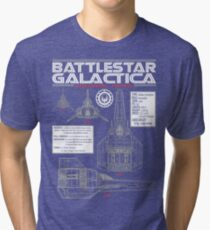 BATTLESTAR GALACTICA COLONIAL VIPER Tri-blend T-Shirt