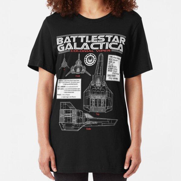 BATTLESTAR GALACTICA COLONIAL VIPER Slim Fit T-Shirt