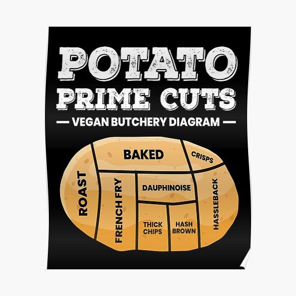 Potatoe Prime Cuts Vegan Potato Chips Poster