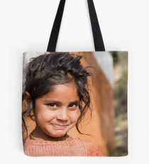 Young Girl in Nepal Far West Tote Bag