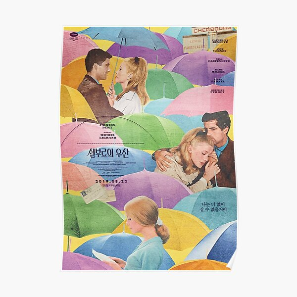 The Umbrellas of Cherbourg Korean Release Poster Poster