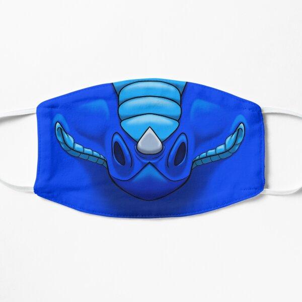Blauer Drache Flache Maske