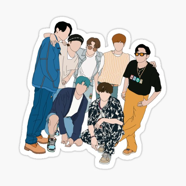 BTS Dynamite group picture Sticker