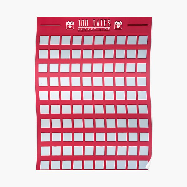Best Seller 100 date Scarcths off Poster