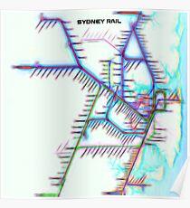 Sydney City Rail Map Poster