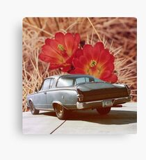 Vintage Cuda with Cactus Canvas Print