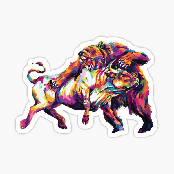 Mercado de valores Bulls VS Bears Pegatina