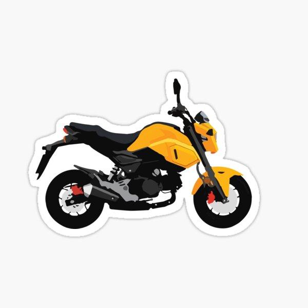 Motorcycle Honda Grom Orange 2020 Sticker