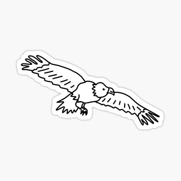 Hello cute happy eagle Sticker