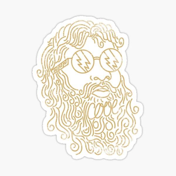 A Cool God_Gold Sticker