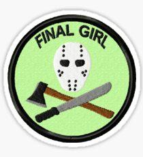 Final Girl Geek Merit Badge Sticker