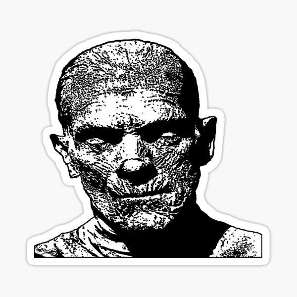Franky Mugshot Tattooed Smoking Frankenstein Lowbrow Fine Art Print Lithograph