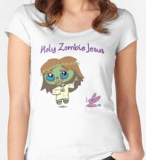 Cute Zombie Jesus Women's Fitted Scoop T-Shirt