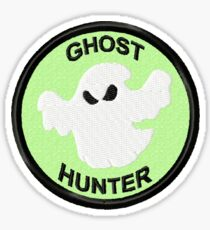 Ghost Hunter Geek Merit Badge Sticker