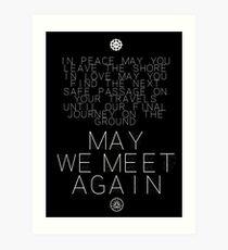 May We Meet Again Constellation Art Print