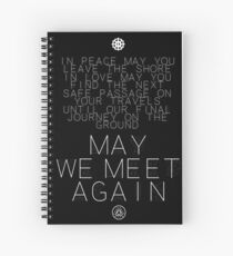 May We Meet Again Constellation Spiral Notebook