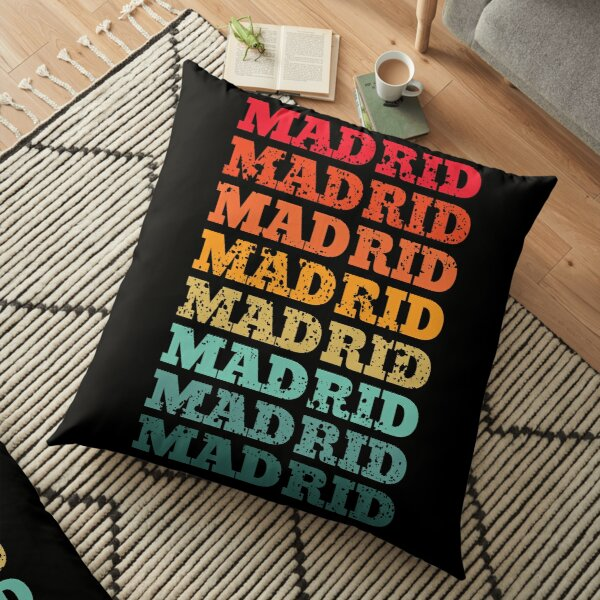 Madrid - repeated retro vintage sunset design with a distressed effect Floor Pillow