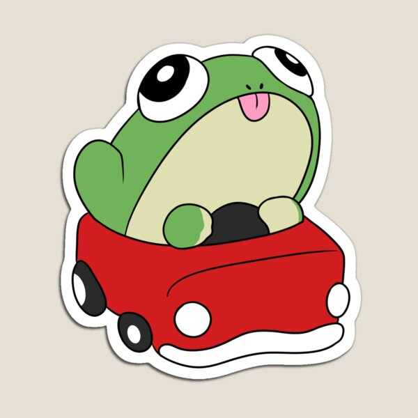 Cute Frog in a Car Magnet