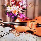 Still Life with Violin by Nadya Johnson