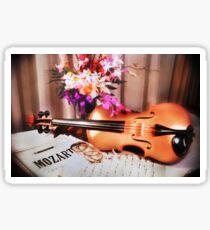 Still Life with Violin Sticker