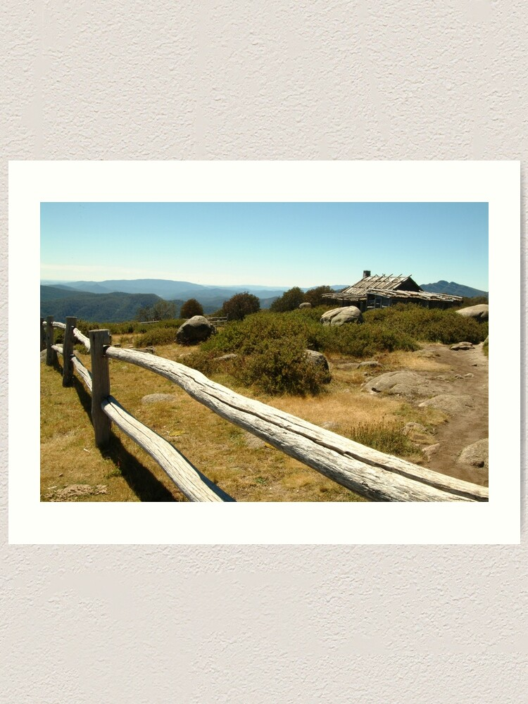 Alternate view of Joe Mortelliti Gallery - Craig's Hut, Mt Stirling, alpine Victoria, Australia. Art Print
