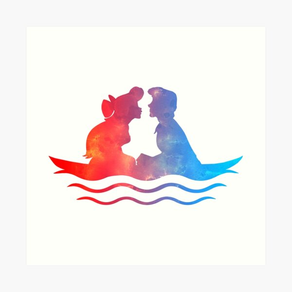 Boat Ride Kiss Art Print