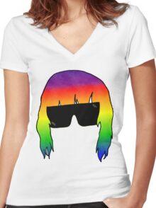 Julian Casablancas - the Strokes Women's Fitted V-Neck T-Shirt