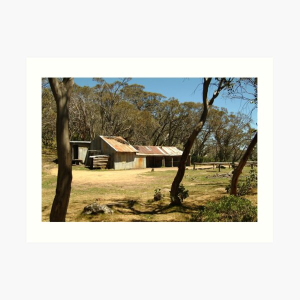 Joe Mortelliti Gallery - Bluff Hut on Mt Stirling, alpine Victoria, Australia.  Art Print