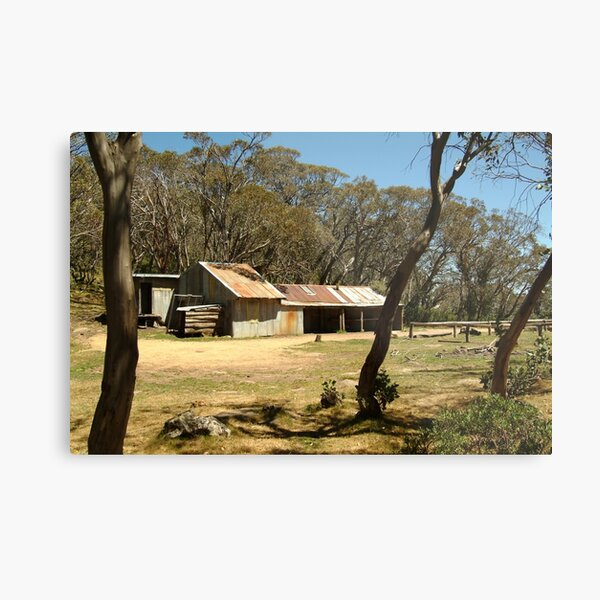 Joe Mortelliti Gallery - Bluff Hut on Mt Stirling, alpine Victoria, Australia.  Metal Print