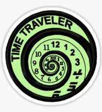 Time Traveler Geek Merit Badge Sticker