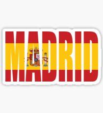 Pegatina Madrid.